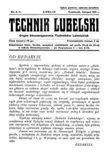 Technik lubelski : organ Stowarzyszenia Techników Lubelskich n. 6,7(1929)