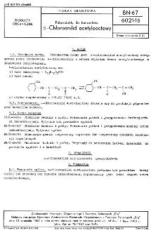 Półprodukty do barwników - o-Chloroanilid acetylooctowy BN-67/6021-16