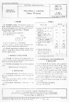 Półprodukty do barwników - Kwas Tobiasa BN-78/6021-15