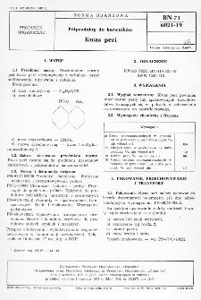 Półprodukty do barwników - Kwas peri BN-71/6021-19