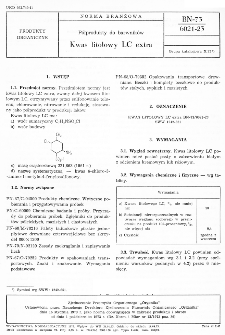 Półprodukty do barwników - Kwas litolowy LC extra BN-73/6021-23