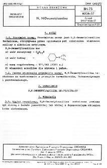 N, N-Dwumetyloanilina BN-75/6026-37