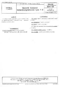 Barwniki kwasowe metalokompleksowe typu 1:2 BN-89/6041-02