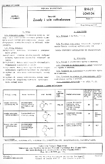 Barwniki - Zasady i sole naftoelanowe BN-69/6041-04