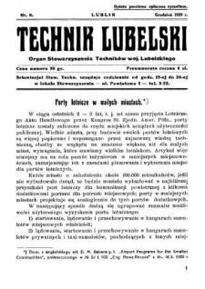 Technik lubelski : organ Stowarzyszenia Techników Lubelskich n. 8(1929)