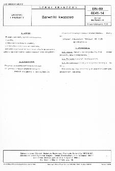 Barwniki kwasowe BN-89/6041-14