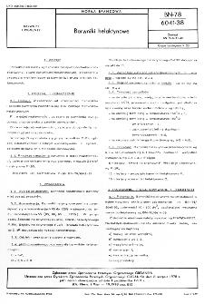 Barwniki helaktynowe BN-78/6041-38