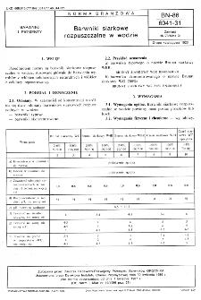 Barwniki siarkowe rozpuszczalne w wodzie BN-86/6041-31