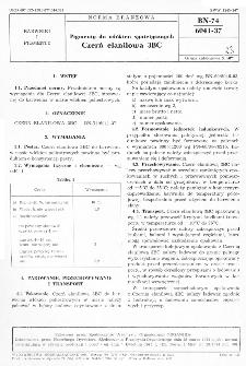 Pigmenty do włókien syntetycznych - Czerń elanilowa 3BC BN-74/6041-37