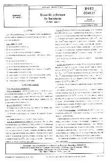 Barwniki polanowe do barwienia - Metody badań BN-83/6041-27