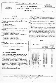 Barwniki siarkowe nierozpuszczalne w wodzie - Metody badań BN-80/6041-53
