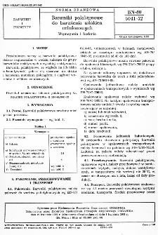 Barwniki polaktynowe do barwienia włókien celulozowych - Wymagania i badania BN-80/6041-52