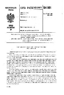 Układ ciągłej sygnalizacji pracy odgromnika warystorowego beziskiernikowego : opis patentowy nr 154901