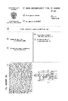 Sposób i urządzenie do pomiaru częstotliwości chwilowych : opis patentowy nr 155997