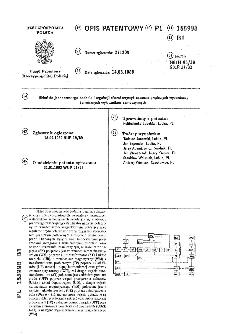 Układ do jednoczesnego badania i regulacji charakterystyk czasowo-prądowych wyzwalaczy termicznych wyłączników samoczynnych : opis patentowy nr 155998