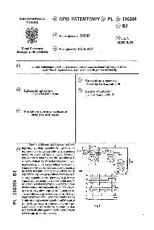 Sposób wybierania i układ do wybierania pojedyńczego poziomu logicznego z jednej częstotliwości i powtarzania tego poziomu z drugą częstotliwością : opis patentowy nr 156304