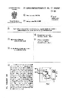 Sposób jednoczesnego pomiaru częstotliwości szeregu sygnałów impulsowych i układ do jednoczesnego pomiaru częstotliwości szeregu sygnałów impulsowych : opis patentowy nr 156307