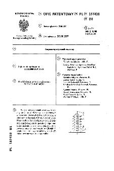 Warystorowy odgromnik zaworowy : opis patentowy nr 157410