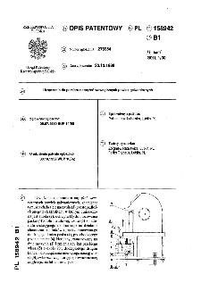 Urządzenie do pomiaru naprężeń wewnętrznych powłok galwanicznych : opis patentowy nr 158942