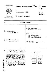 Stół do kiełkowania ziarna : opis patentowy nr 170697