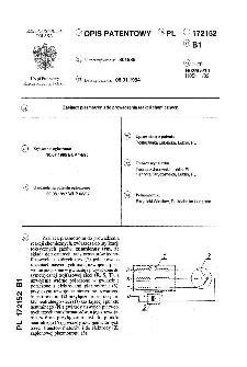 Zasilacz plazmotronu do prowadzenia reakcji chemicznych : opis patentowy nr 172152