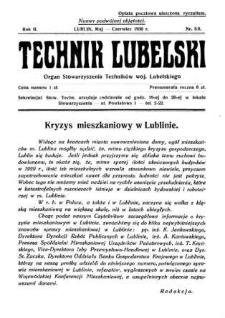 Technik lubelski : organ Stowarzyszenia Techników Lubelskich n. 5,6(1930)