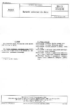 Barwniki anionowe do skóry BN-72/6042-05