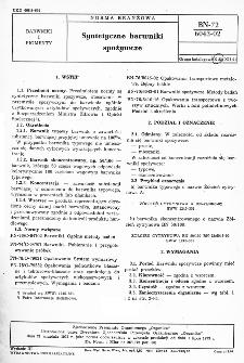 Syntetyczne barwniki spożywcze BN-72/6043-02