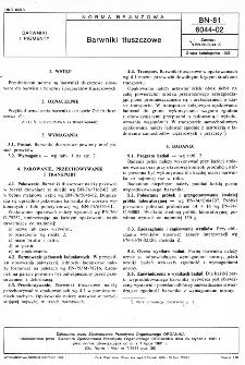 Barwniki tłuszczowe BN-81/6044-02