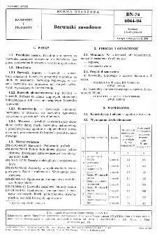 Barwniki zasadowe BN-74/6044-04