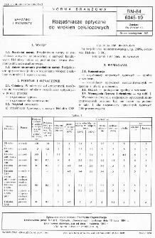 Rozjaśniacze optyczne do włókien celulozowych BN-84/6045-19