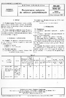 Rozjaśniacze optyczne do włókien poliamidowych BN-83/6045-20