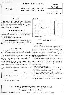 Koncentrat pigmentowy do barwienia polwinitu BN-90/6047-05