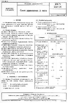 Czerń pigmentowa A extra BN-71/6047-09