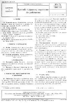 Barwniki i pigmenty organiczne do polistyrenu BN-72/6047-11