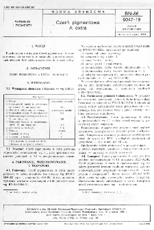 Czerń pigmentowa A extra BN-86/6047-19