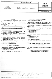 Sadze kanałowe i piecowe BN-70/6048-01