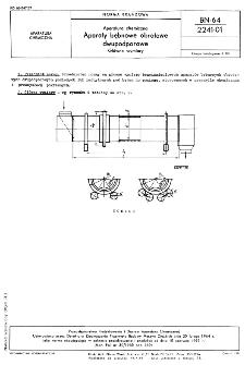 Aparatura chemiczna - Aparaty bębnowe obrotowe dwupodporowe - Główne wymiary BN-64/2241-01