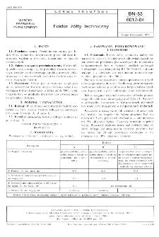 Fosfor żółty techniczny BN-83/6012-04