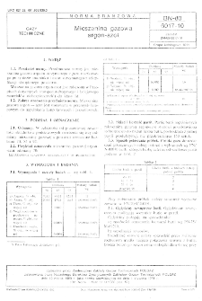 Mieszanina Gazowa argon-azot BN-80/6017-10