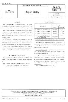 Argon ciekły BN-78/6017-14