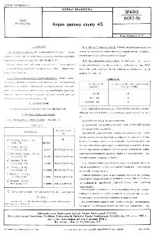 Argon gazowy czysty 45 BN-80/6017-16
