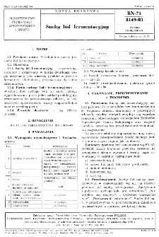 Suchy lód fermentacyjny BN-75/8149-03