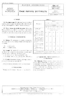 Kwas siarkowy ponitracyjny BN-85/6014-02