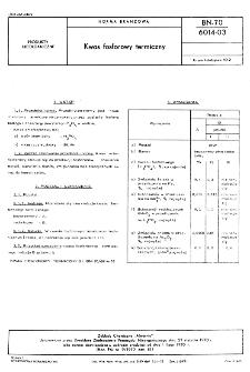 Kwas fosforowy termiczny BN-70/6014-03