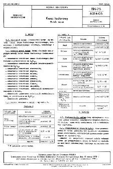 Kwas fosforowy - Metody badań BN-75/6014-05