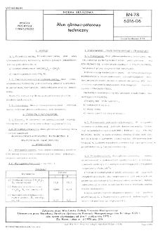 Ałun glinowo-potasowy techniczny BN-78/6016-06