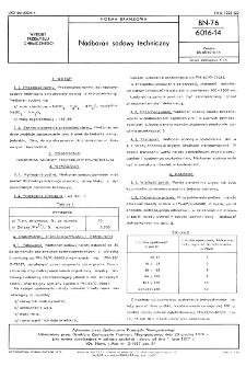Nadboran sodowy techniczny BN-76/6016-14