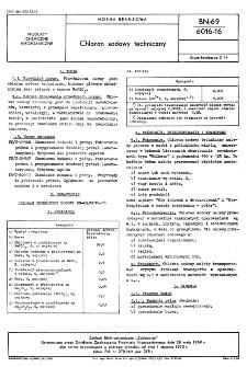 Chloran sodowy techniczny BN-69/6016-16