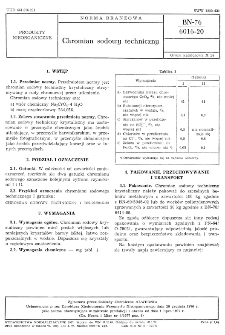 Chromian sodowy techniczny BN-76/6016-20